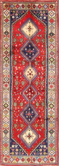Geometric Tribal 3x9 Yalameh Persian Rug Runner