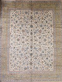 13x17 Signed Kashan Persian Area Rug