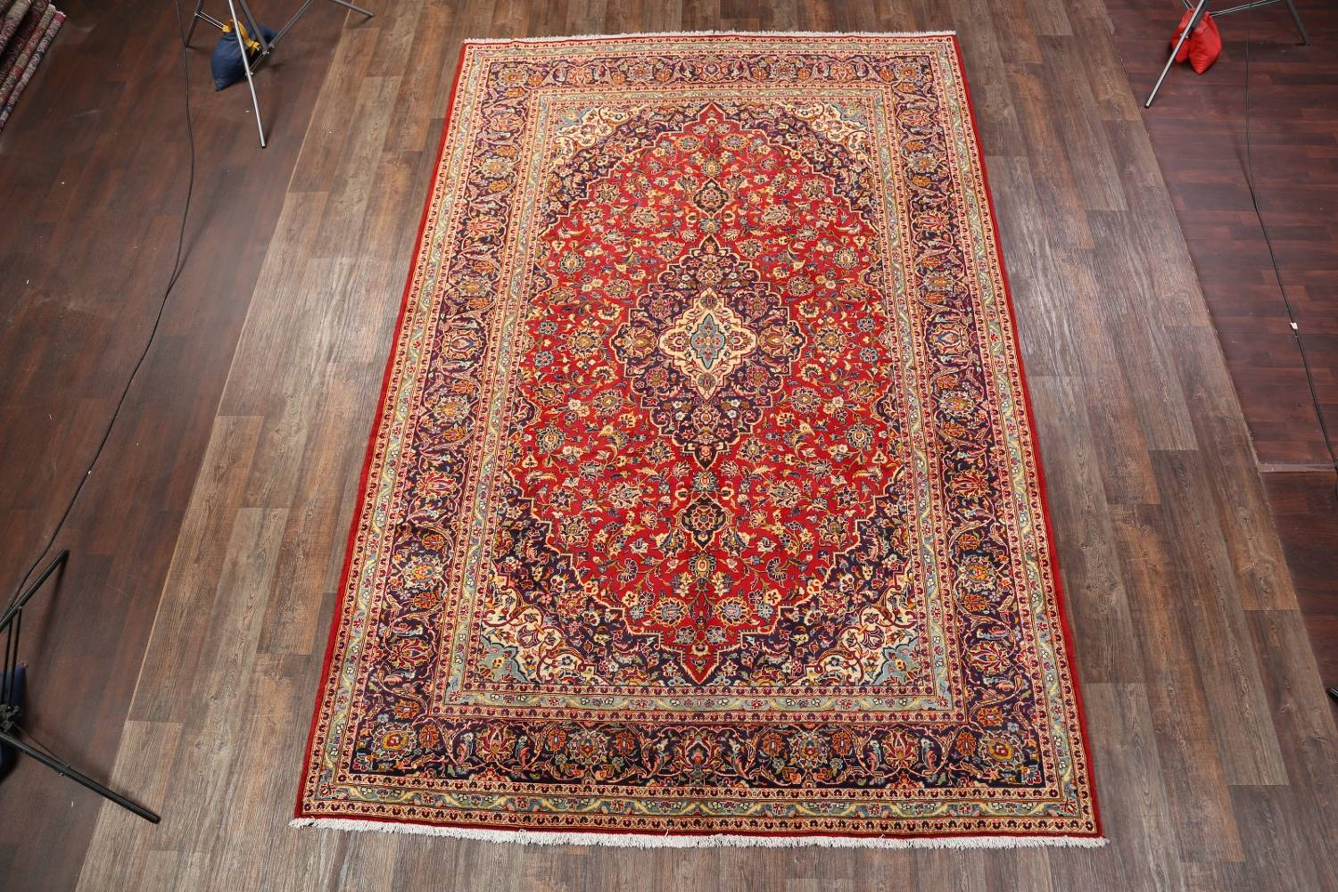 Fl Red 8x12 Kashan Persian Area Rug