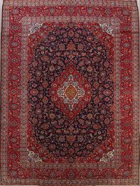 Alluring Floral 10x13 Kashan Persian Area Rug