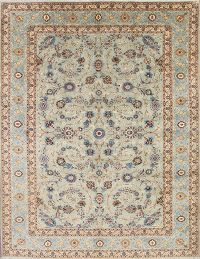 Traditional Floral Kashan Persian Hand-Knotted 10x13 Area Rug