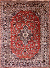 Antique Vegetable Dye 11x14 Kashan Dabir Persian Area Rug