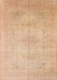 Muted Color Oushak Pakistan Oriental Hand-Knotted 10x14 Area Rug