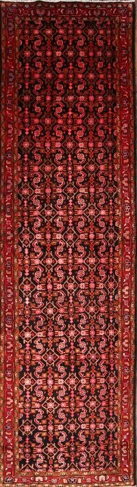 Geometric Malayer Hamadan Persian Area Rug 4x14