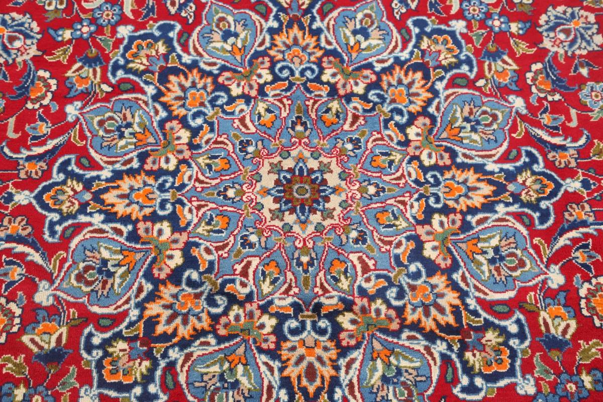 Floral Red Isfahan Persian Area Rug 8x13 image 5