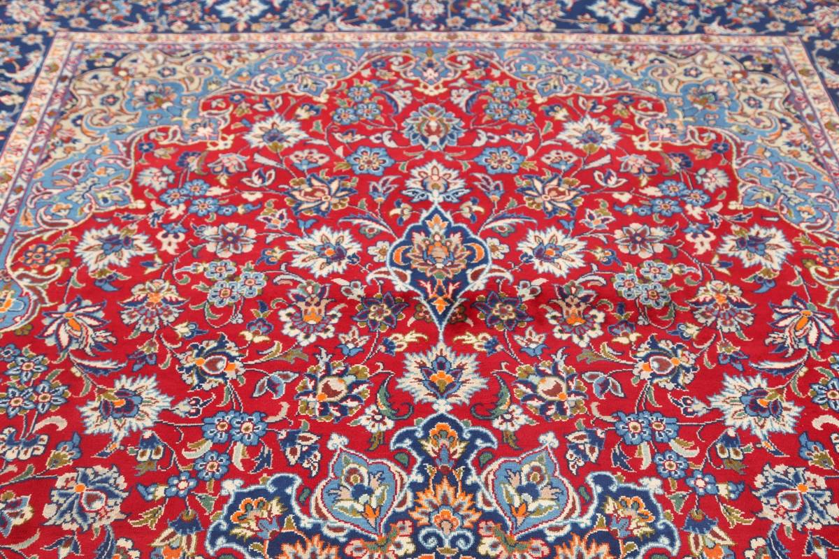Floral Red Isfahan Persian Area Rug 8x13 image 7