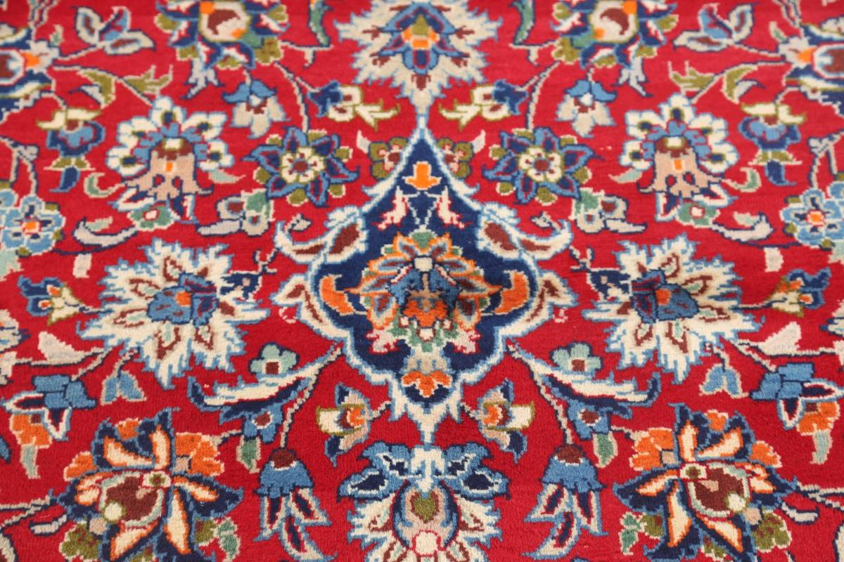 Floral Red Isfahan Persian Area Rug 8x13 image 8