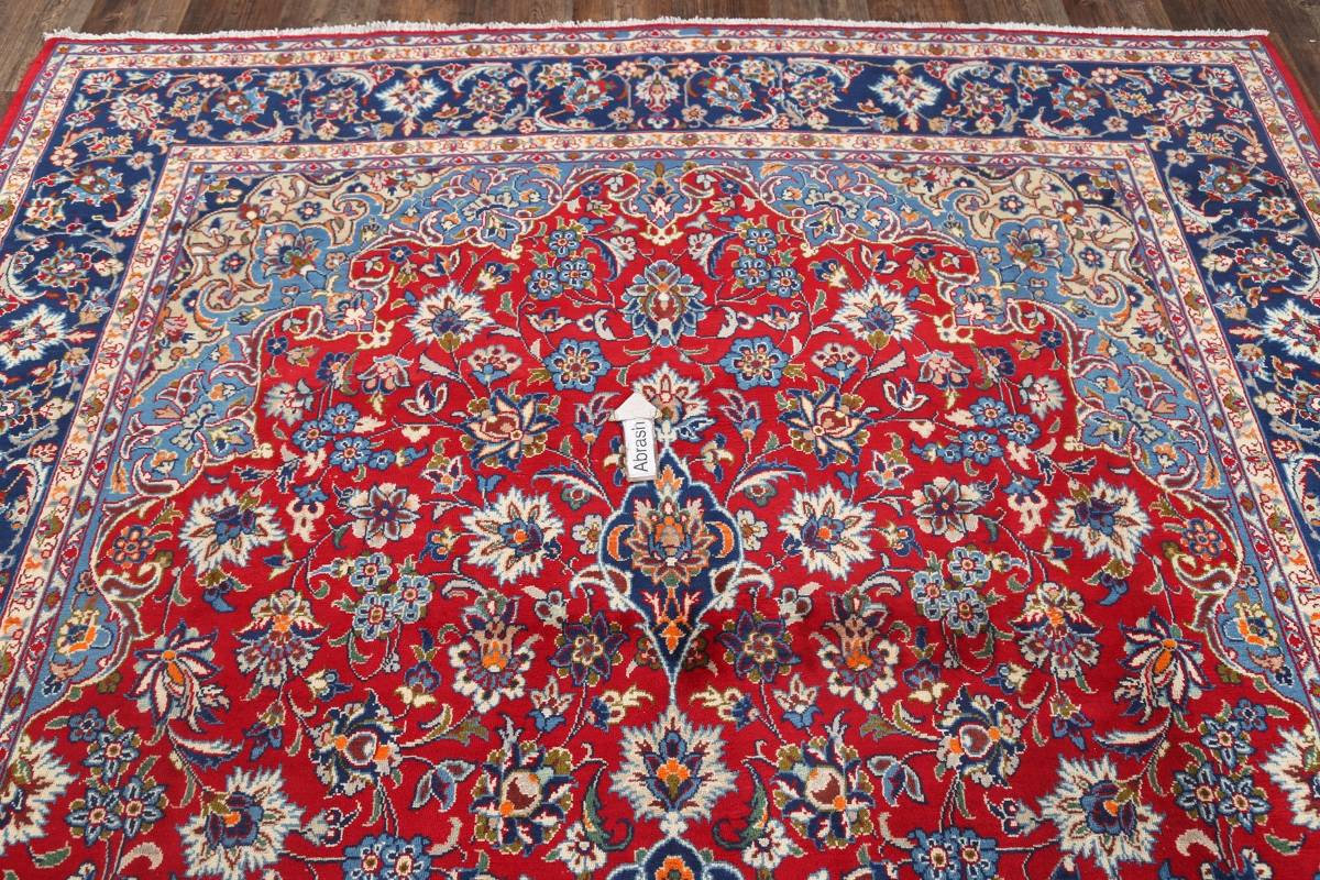 Floral Red Isfahan Persian Area Rug 8x13 image 11