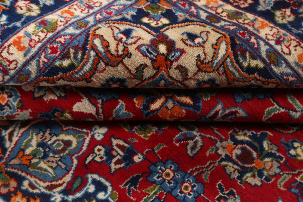 Floral Red Isfahan Persian Area Rug 8x13 image 13