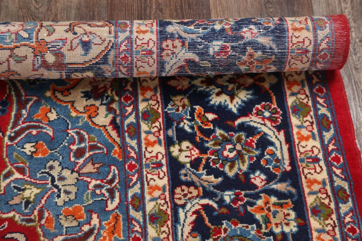 Floral Red Isfahan Persian Area Rug 8x13 image 14