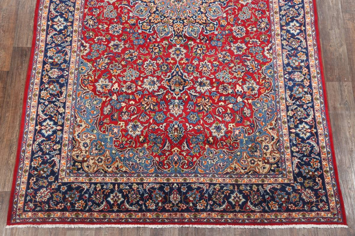 Floral Red Isfahan Persian Area Rug 8x13 image 18