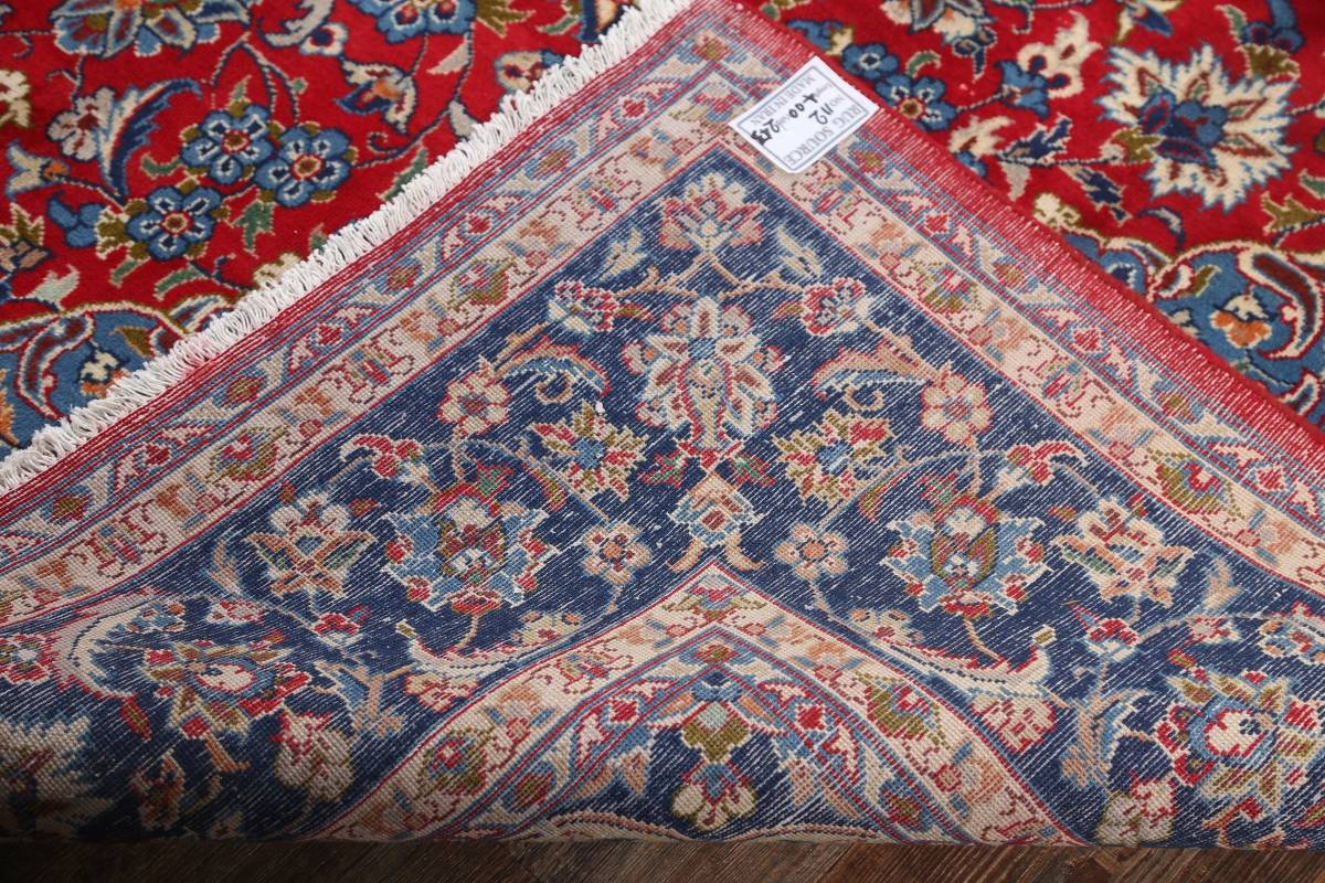 Floral Red Isfahan Persian Area Rug 8x13 image 20