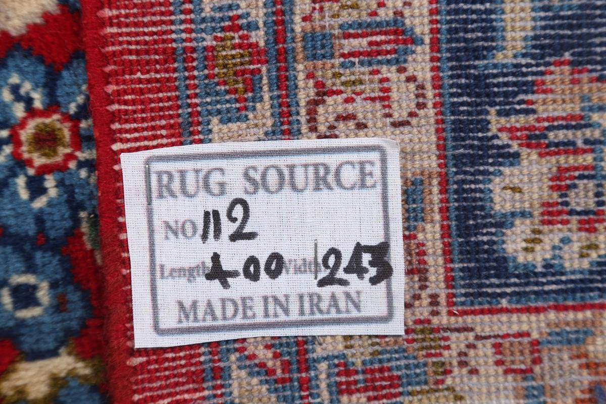 Floral Red Isfahan Persian Area Rug 8x13 image 22