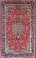 Floral Red Isfahan Persian Area Rug 8x13 image 1