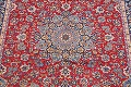 Floral Red Isfahan Persian Area Rug 8x13 image 6