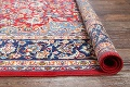 Floral Red Isfahan Persian Area Rug 8x13 image 15