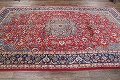 Floral Red Isfahan Persian Area Rug 8x13 image 16
