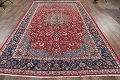 Floral Red Isfahan Persian Area Rug 8x13 image 17