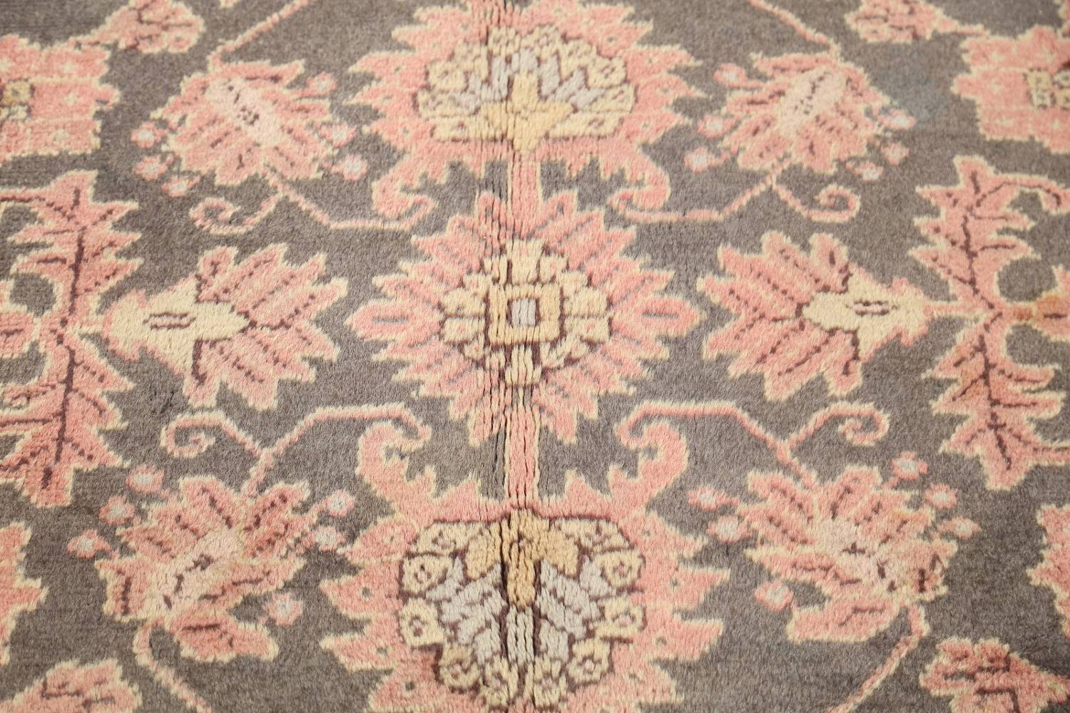 Fossil Black All-Over Muted Antique 9x11 Oushak Turkish Oriental Area Rug image 5