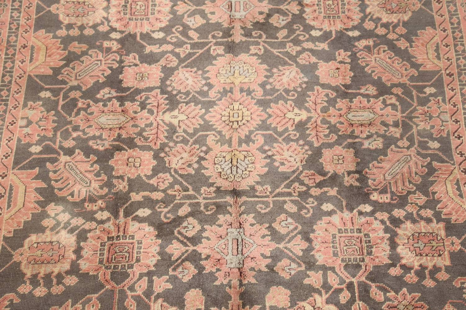 Fossil Black All-Over Muted Antique 9x11 Oushak Turkish Oriental Area Rug image 6
