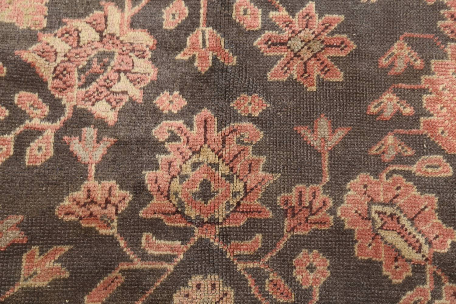 Fossil Black All-Over Muted Antique 9x11 Oushak Turkish Oriental Area Rug image 8