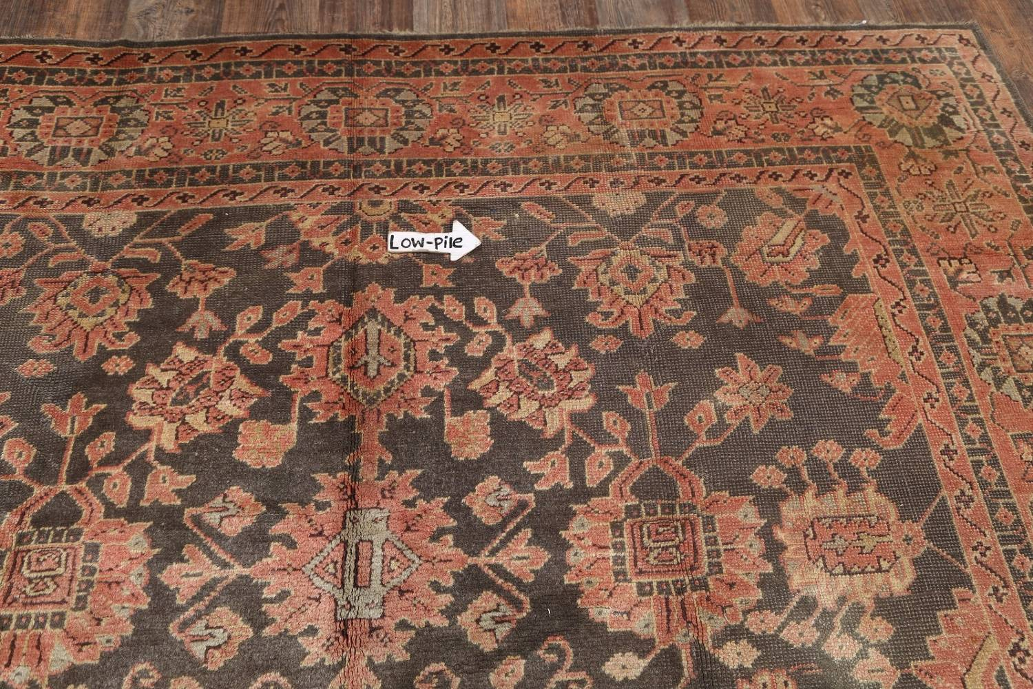 Fossil Black All-Over Muted Antique 9x11 Oushak Turkish Oriental Area Rug image 10