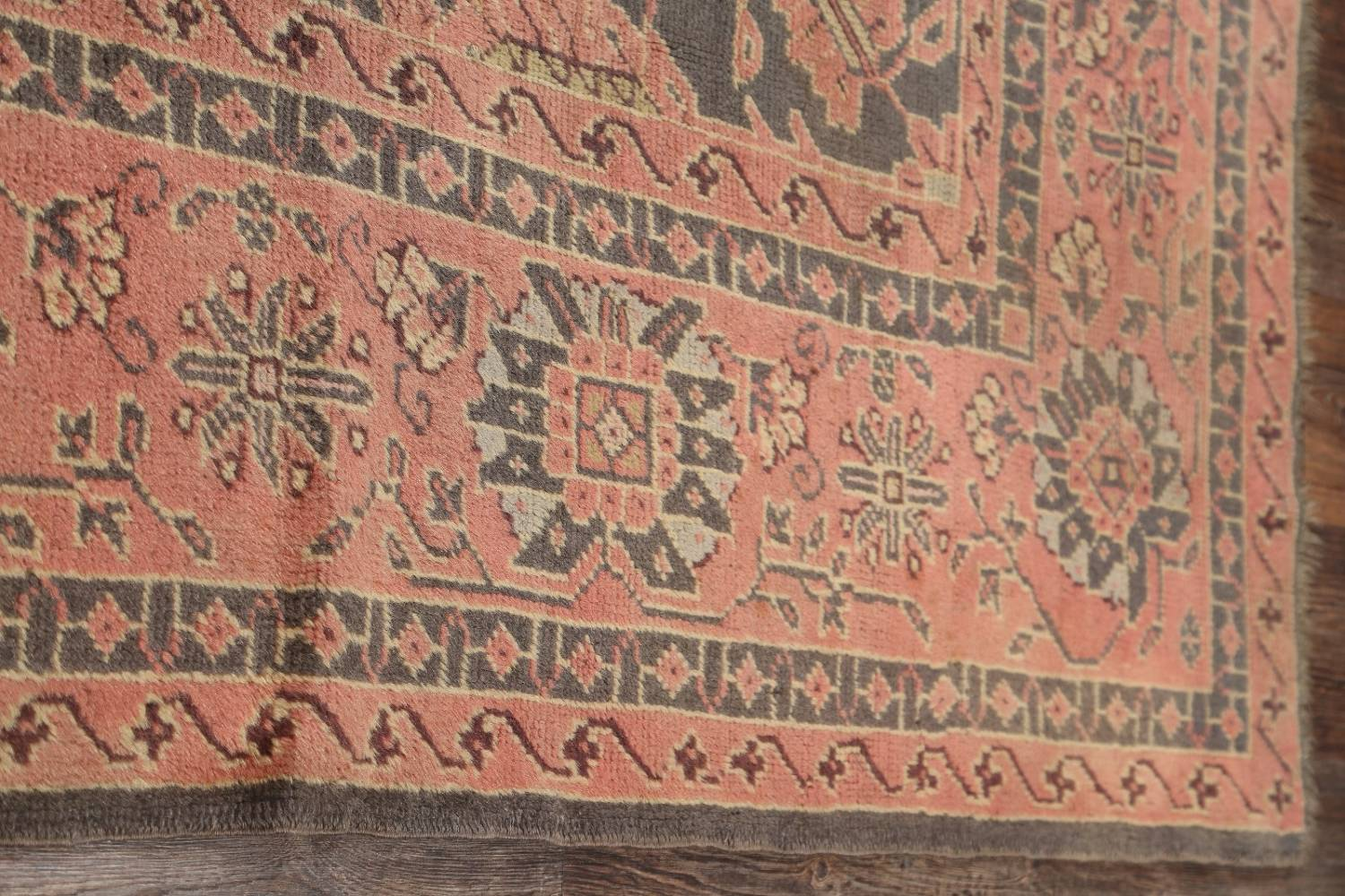 Fossil Black All-Over Muted Antique 9x11 Oushak Turkish Oriental Area Rug image 12