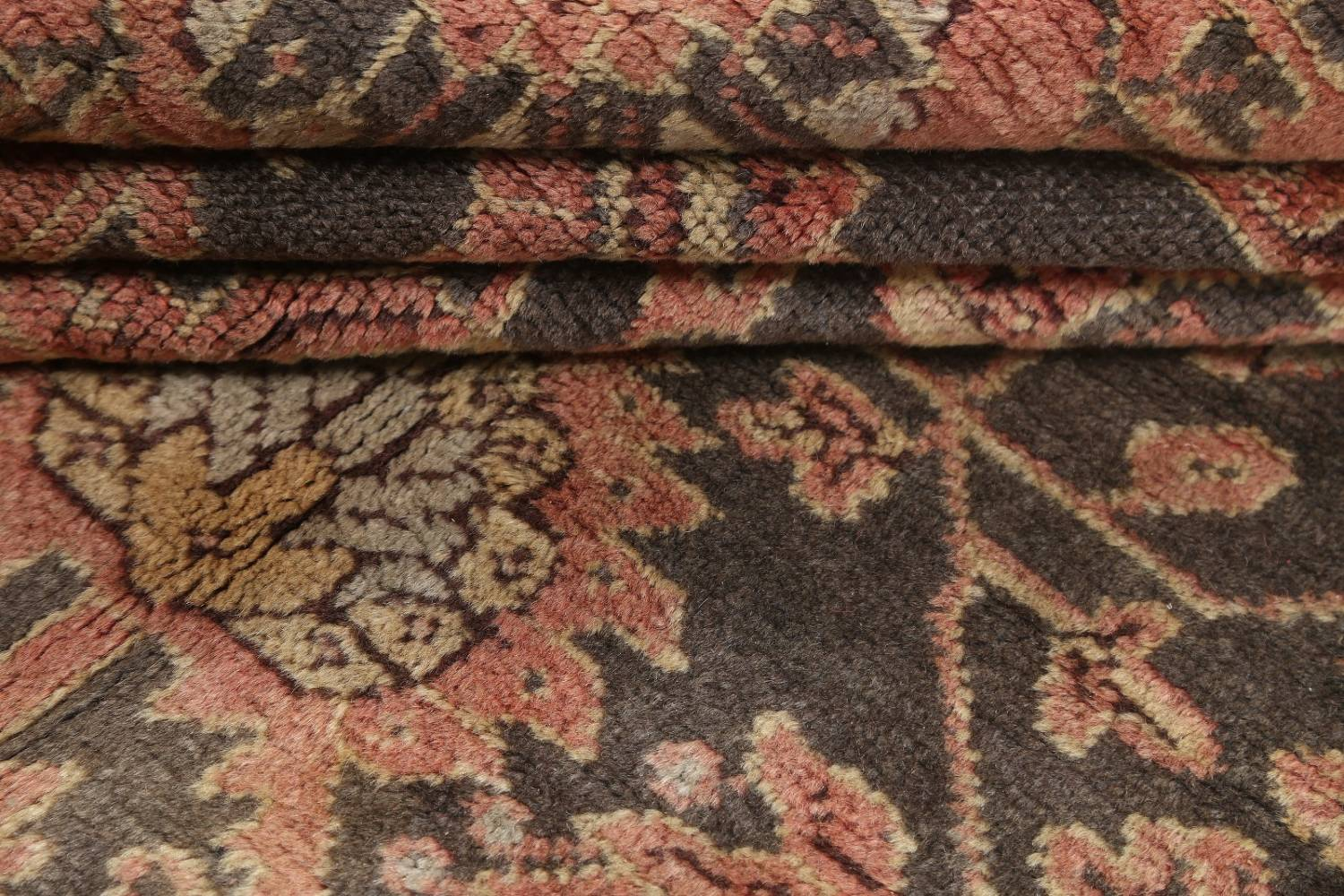 Fossil Black All-Over Muted Antique 9x11 Oushak Turkish Oriental Area Rug image 13
