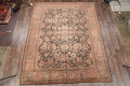 Fossil Black All-Over Muted Antique 9x11 Oushak Turkish Oriental Area Rug image 2