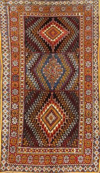 Vintage Geometric South-western 5x9 Moroccan Oriental Area Rug