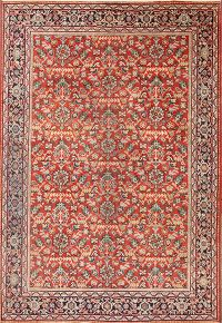 Antique All-Over Sarouk Persian Area Rug 7x10