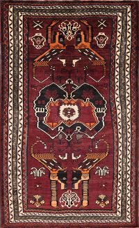 Animal Pictorial 5x8 Lori Shiraz Persian Area Rug