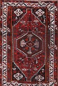 Antique 3x5 Qashqai Shiraz Persian Area Rug