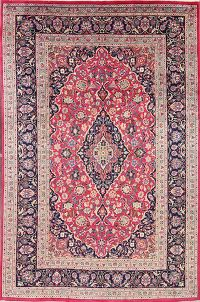 Traditional Floral Pink Kashmar Persian Area Rug 8x12