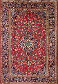 Floral Red 8x11 Kashan Persian Area Rug