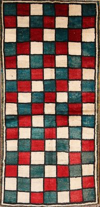 Checkered Gabbeh Shiraz Persian Area Rug 3x6