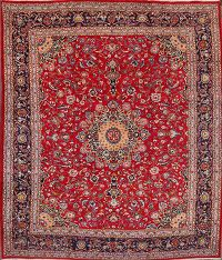 Floral Mashad Persian Red Area Rug 10x12