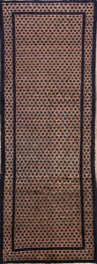 All-Over Brown3x10 Koliaei Hamedan Persian Rug Runner