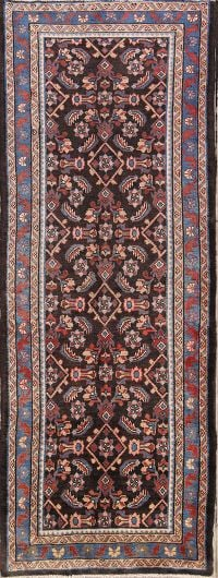 All-Over Floral4x10 Bakhtiari Persian Rug Runner