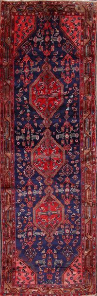4x11 Hamadan Malayer Persian Rug Runner