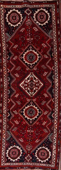 4x10 Abadeh Shiraz Persian Runner Rug