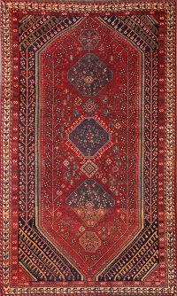 Pre-1900 Antique 5x8 Qashqai Shiraz Persian Area Rug