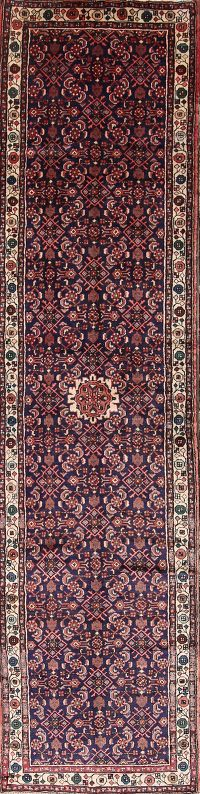 3x13 Malayer Hamedan Persian Rug Runner