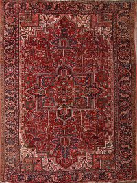 Antique Geometric Heriz Persian Area Rug 9x13