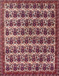 Antique Paisley Afshar Sirjan Kerman Persian Area Rug 5x6