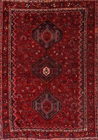 Antique 7x10 Qashqai Shiraz Persian Area Rug
