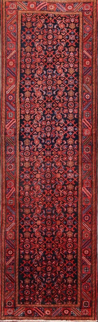 All-Over Floral Hamedan Persia Runner Rug 4x13