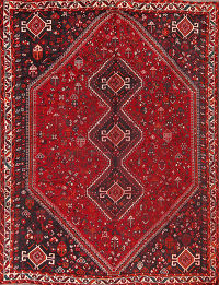 Geometric Tribal Kashkoli Shiraz Persian Area Rug 7x10