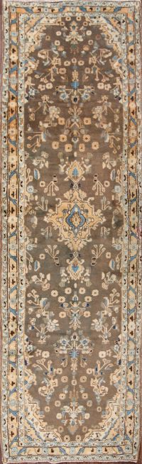 4x13 Malayer Hamedan Persian Runner Rug