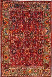 Geometric Kashkoli Shiraz Persian Area Rug 3x5